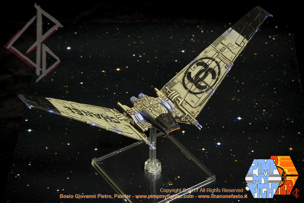 PIMPMYFIGHTER: Upsilon Shuttle - CHANEL custom - FFG X-Wing repaint