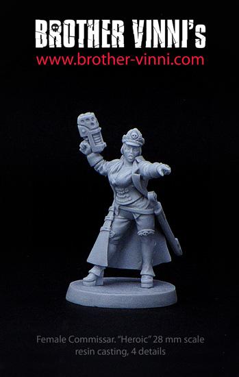 female commissar Elizabeth Raven