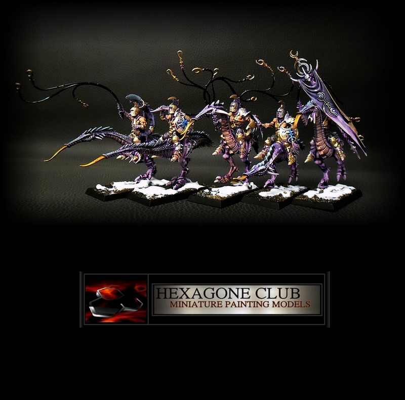 Warhammer Chaos Hellstriders of Slaanesh.