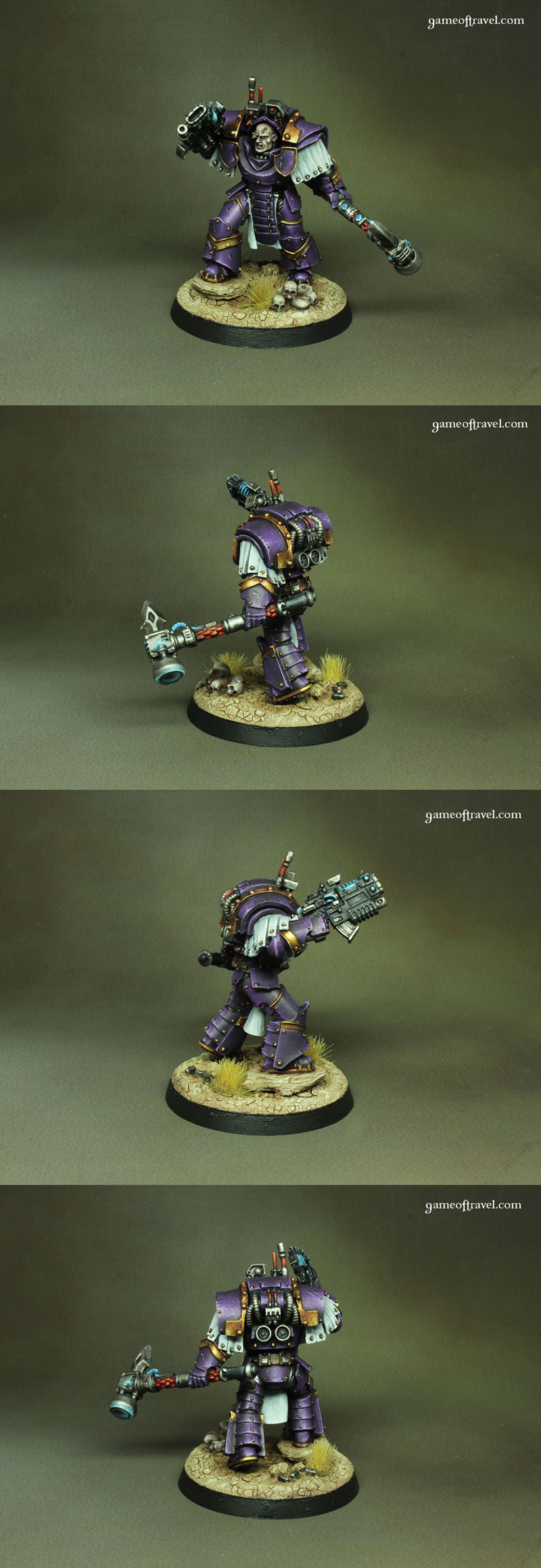 Emperor's Children Praetor in Cataphractii Terminator Armour