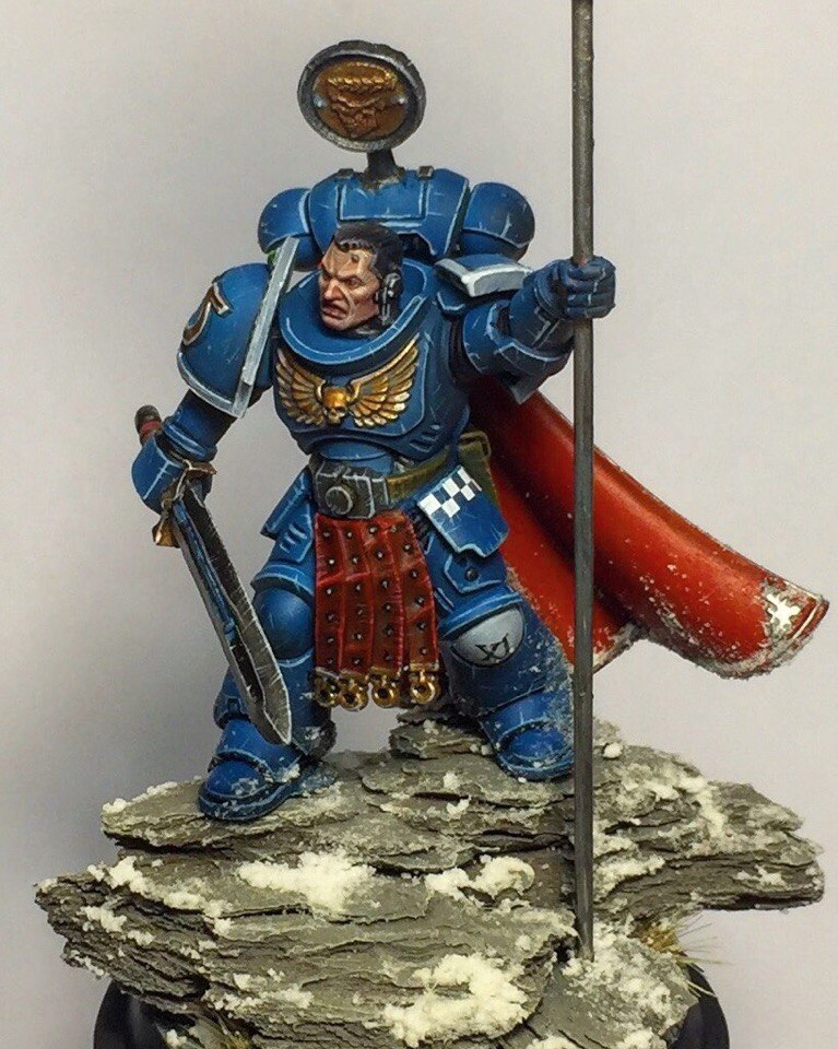 Ultramarines Primaris Captain/Standard Bearer