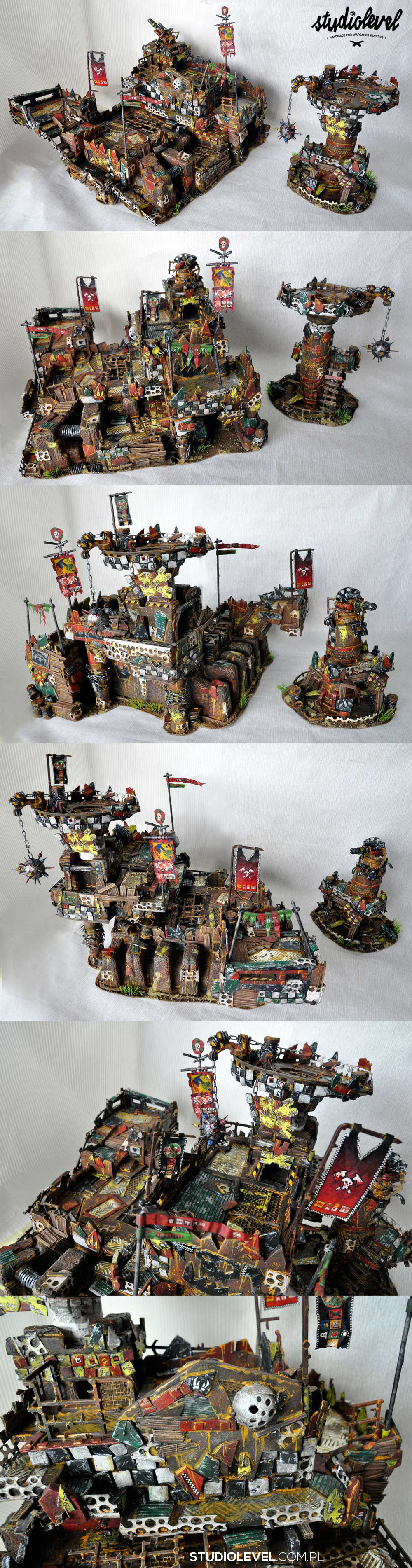 EPIC ORKS WAAAGH FORT TERRAIN + WATCHTOWER
