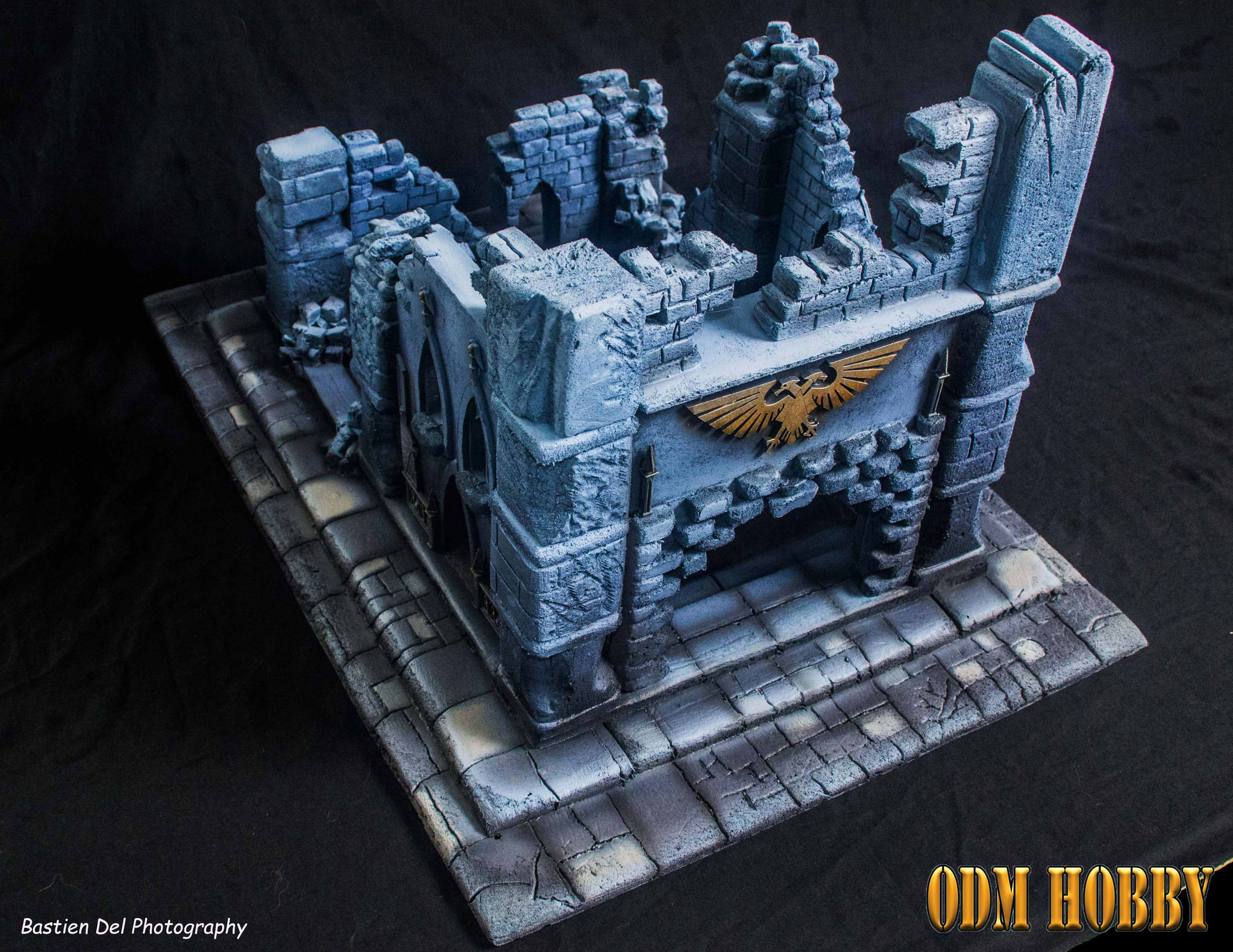warhammer-40000-scenery-commission-foam-cathedral-imperium-aquila-odmhobby