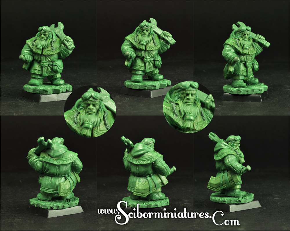 Dwarf greenstuff oryginal sculpture 28mm