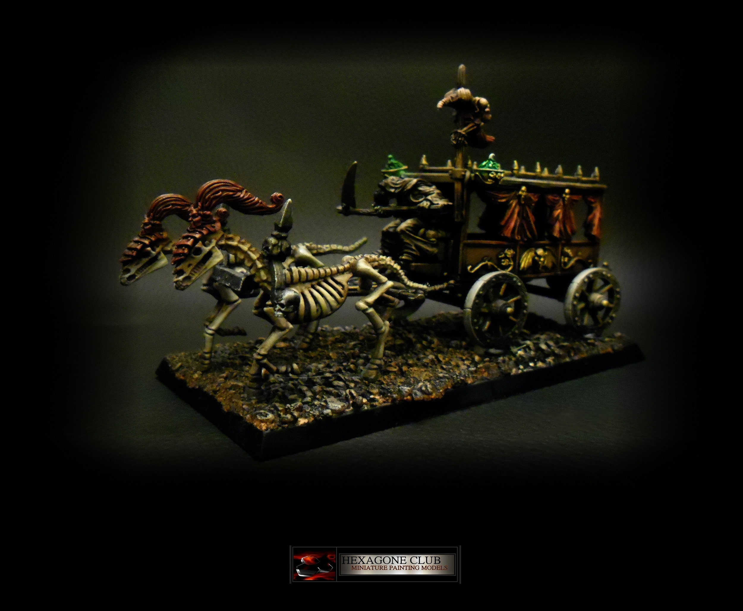 Warhammer Vampire Counts Carrosse Noir .