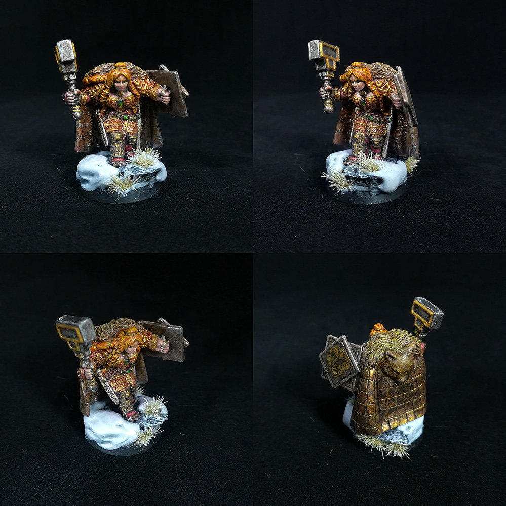 Female Dwarf Warrior D&D Miniature