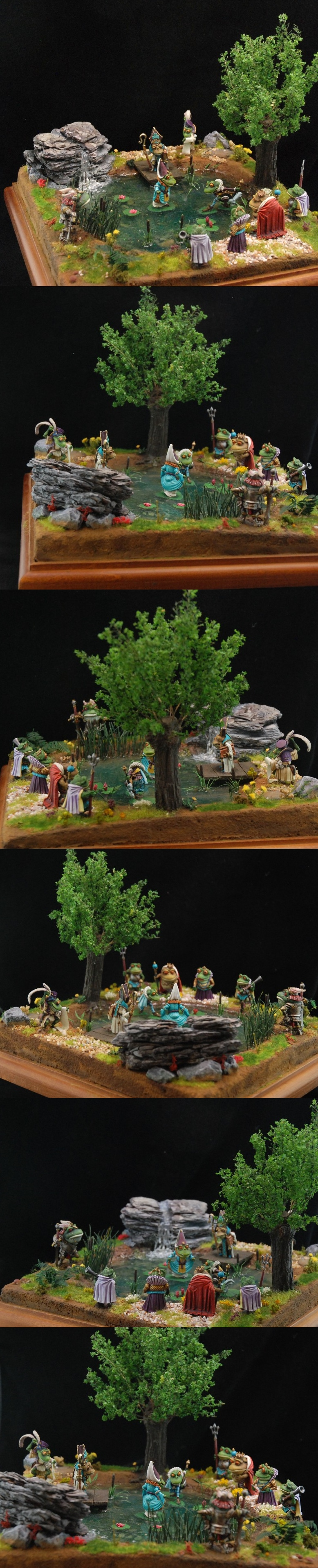 Dark Sword Frogs diorama