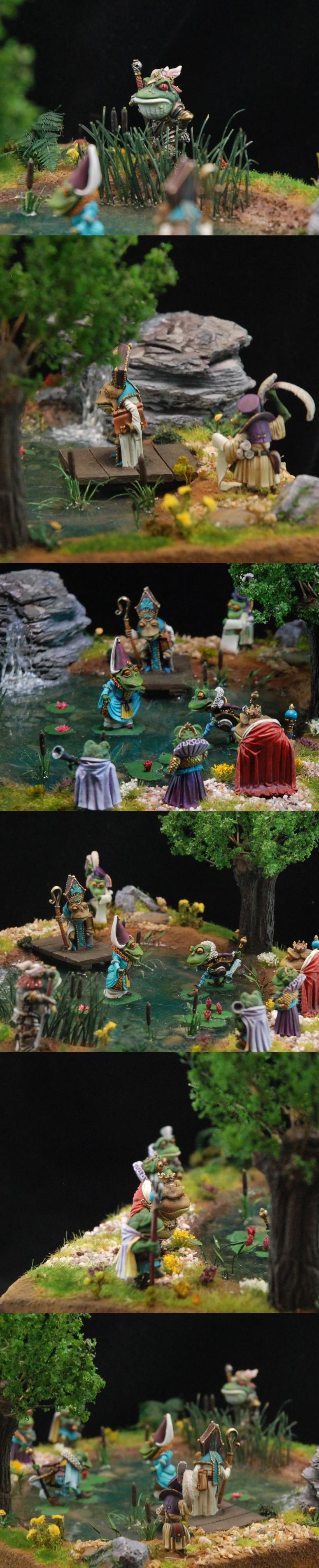 Dark Sword Frogs diorama close-ups