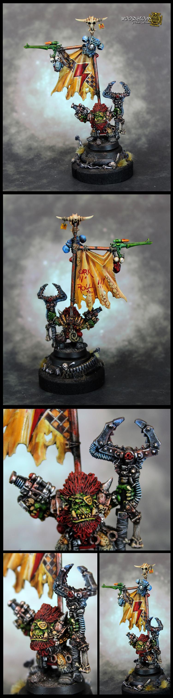 Oldhammer Ork converted Banner.