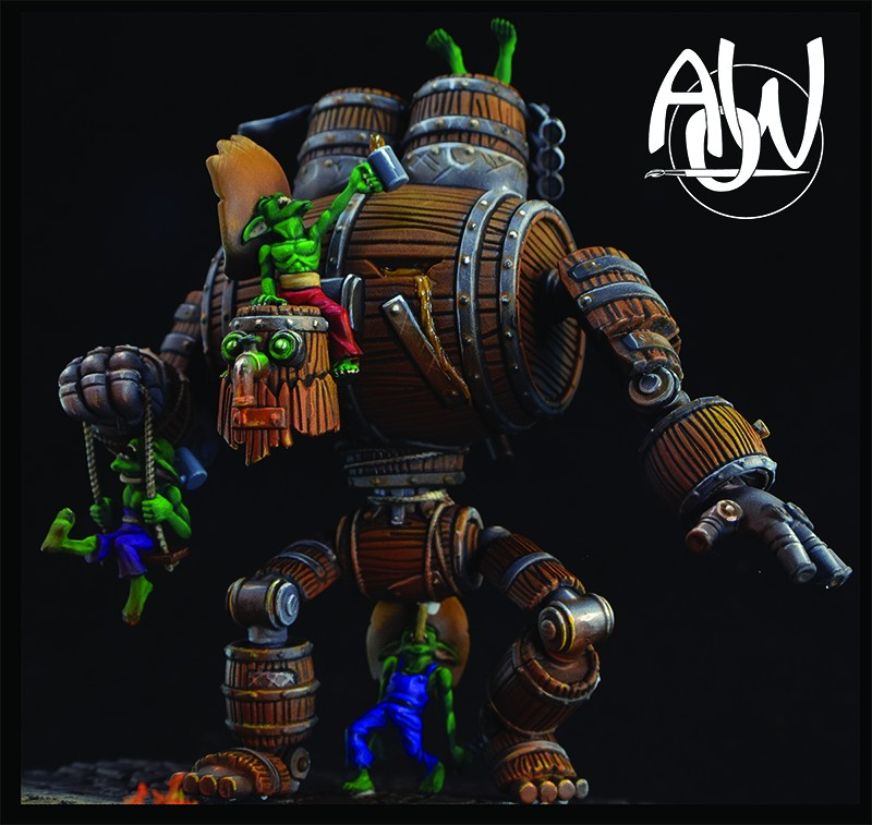 Malifaux Whiskey Golem