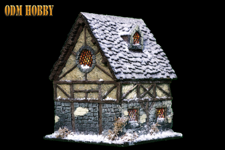 Warhammer Age of Sigmar 28mm handmade plaster moulding scenerie medieval house