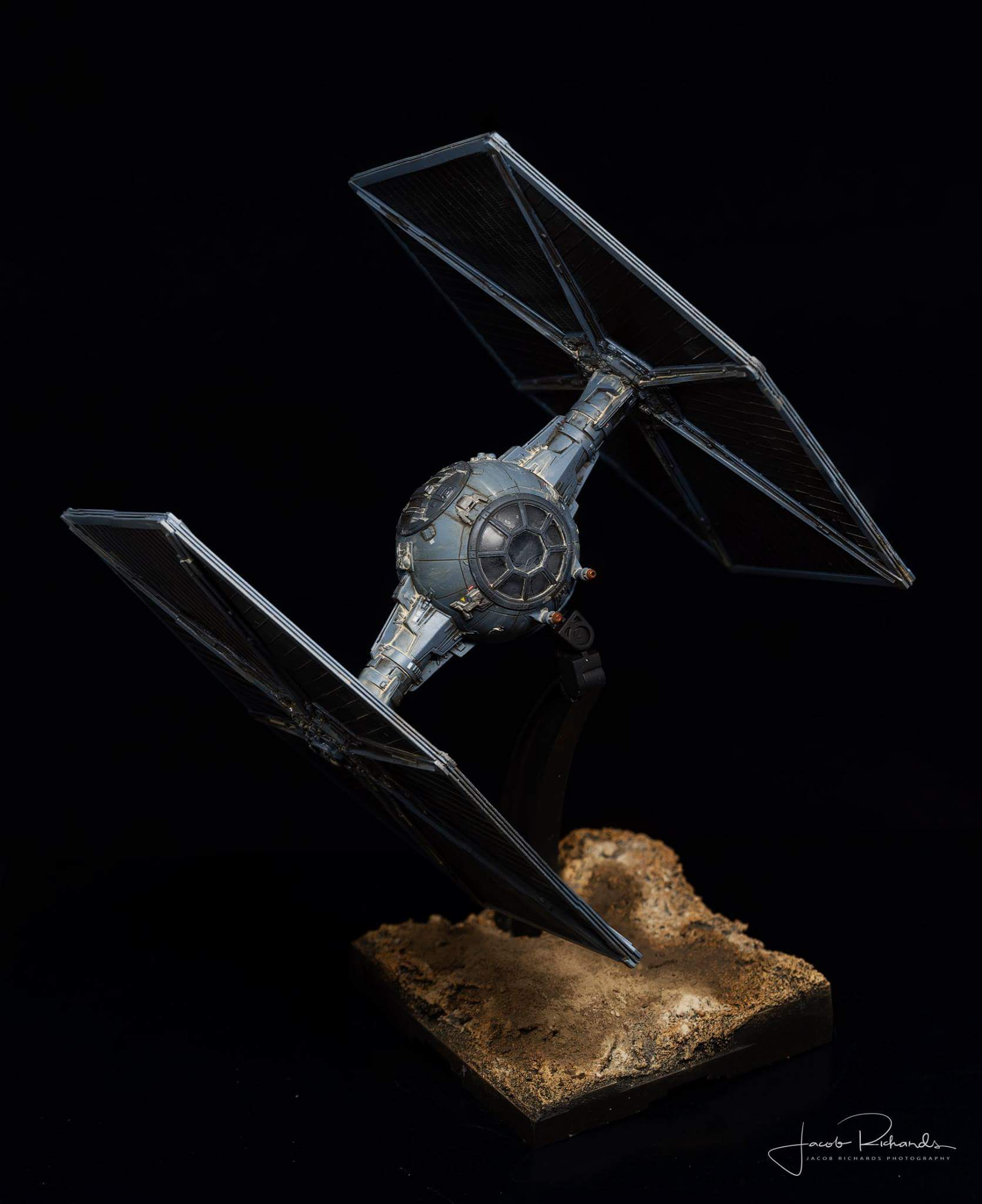 TIE Fighter Over Jakku - Shot 1