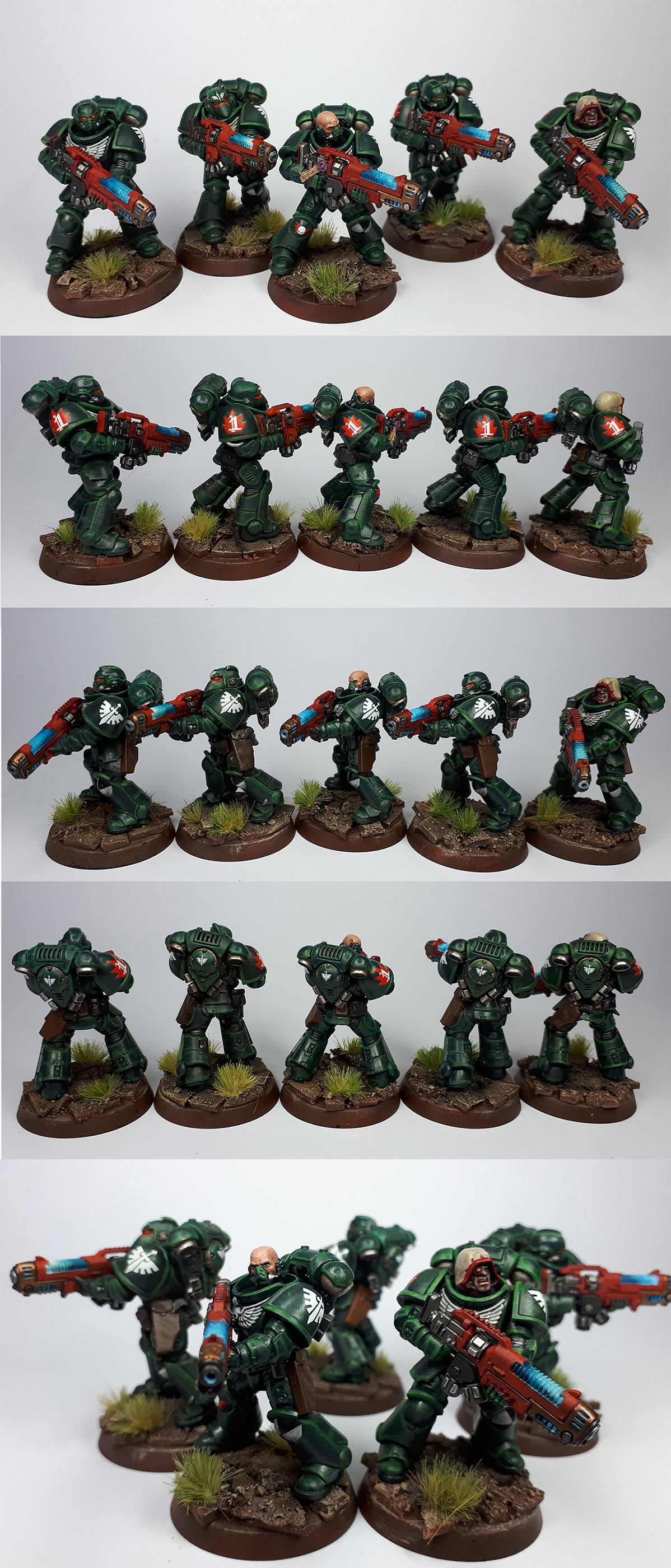 Dark Angels Hellblasters squad