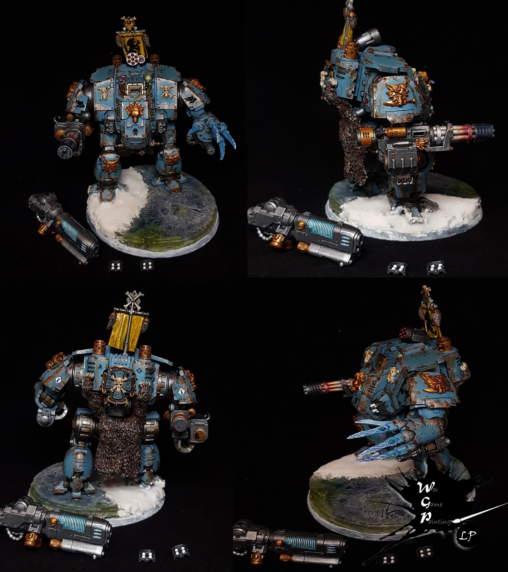 Primaris Redemptor Dreadnought Space Wolves Modded Warhammer 40K