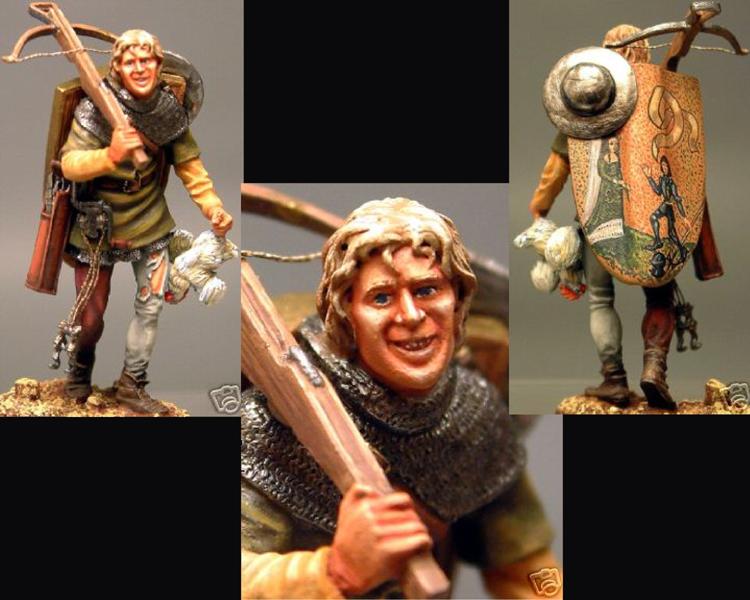 Crossbowman Walking, 1415