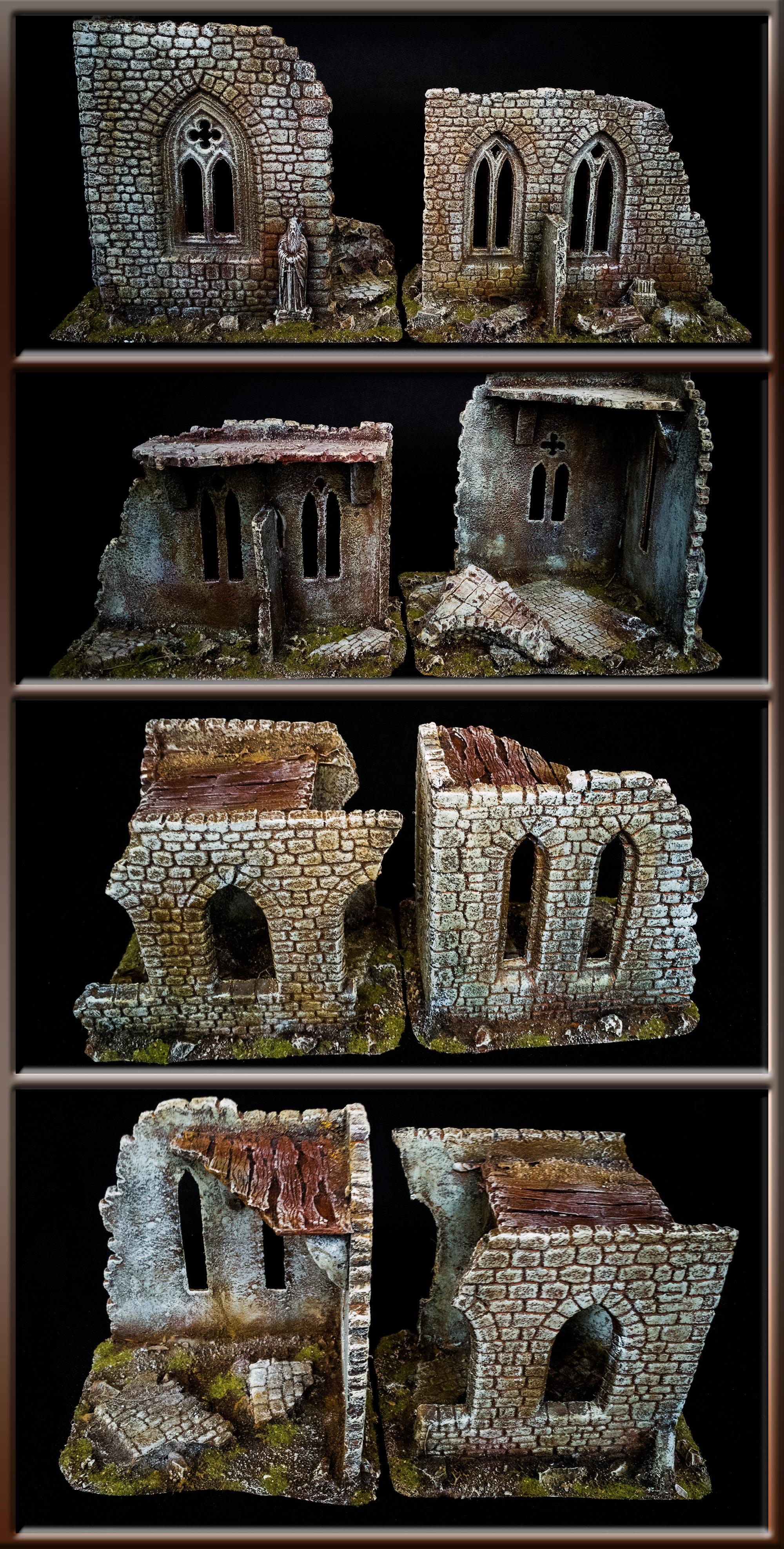 RUINS OF BUILDING WALLS SET
