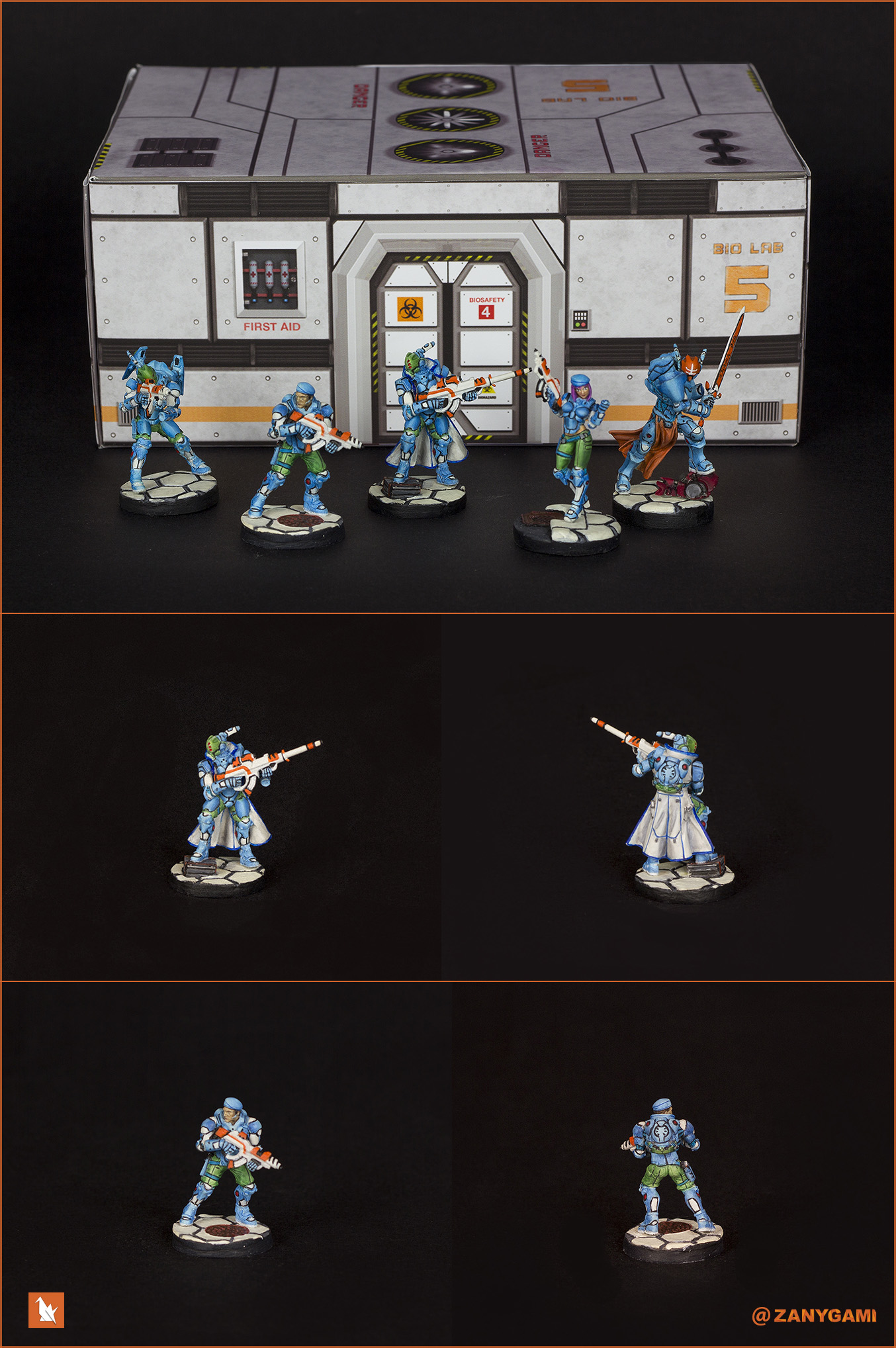 Pan O IceStorm Squad w/ Asiimov inspired weapons