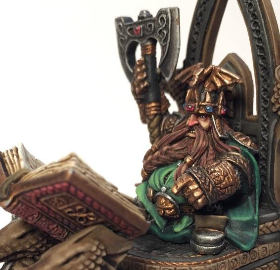 Thorgrim Grudgebearer, Dwarf King on Throne
