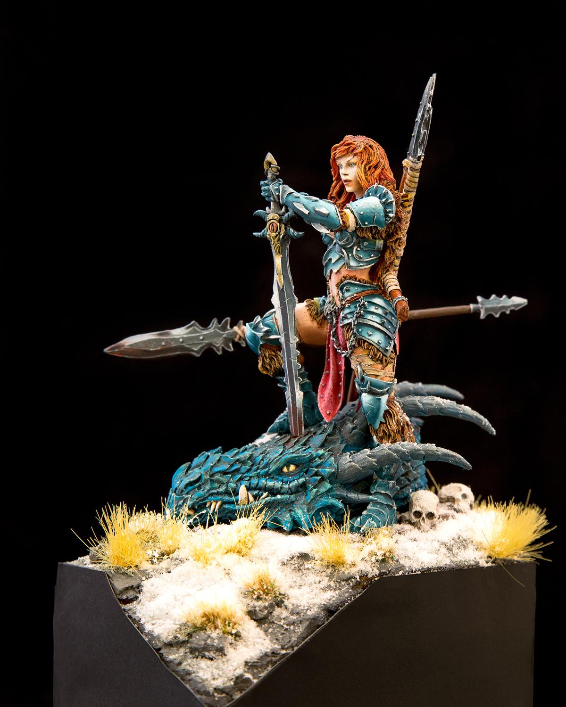 Dragon Huntress - Black Sun Miniatures