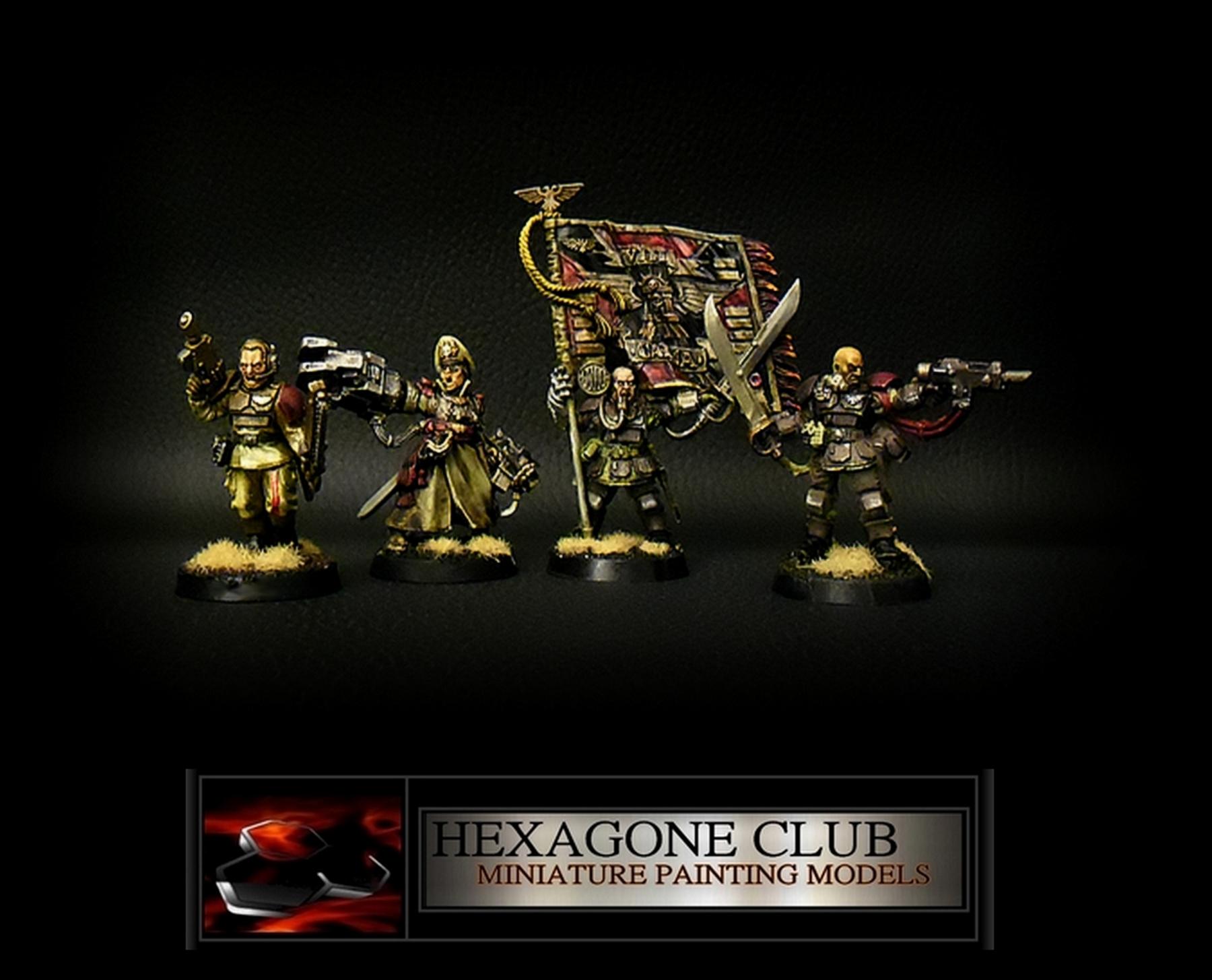 Warhammer 40.000 Astra Militarum Command Squad .