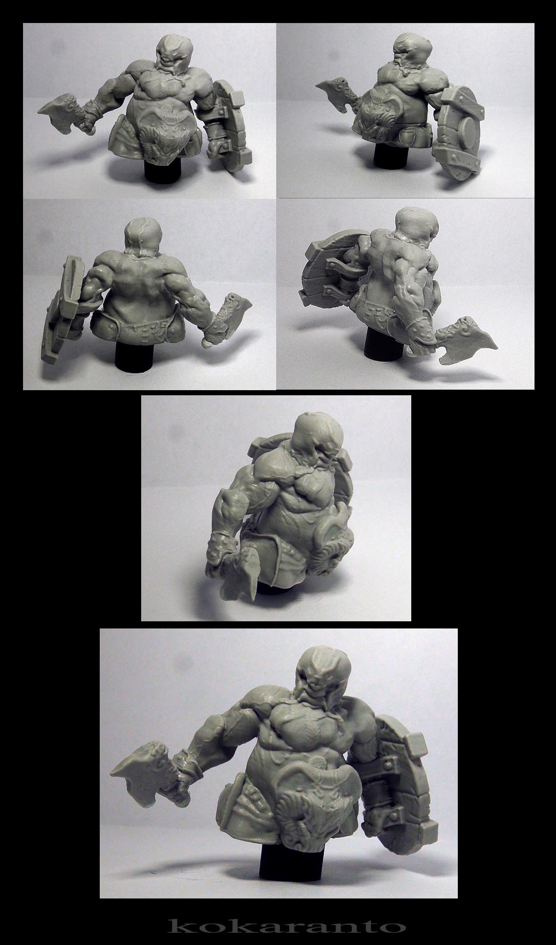 dwarf bust 60 mm resin kit