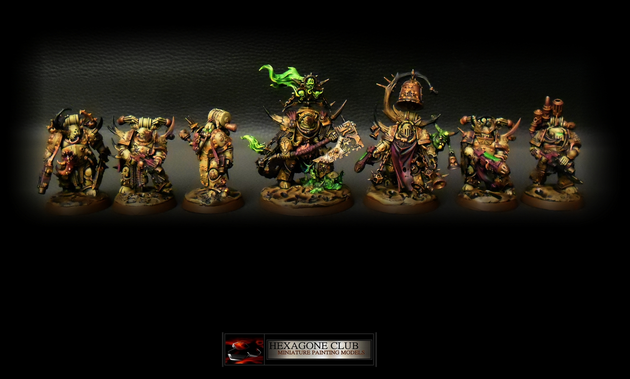 Warhammer 40.000 Chaos Nurgle Squad .
