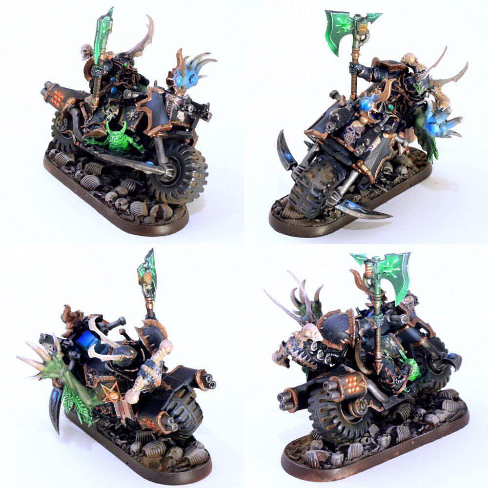 Chaos sorcerer on bike
