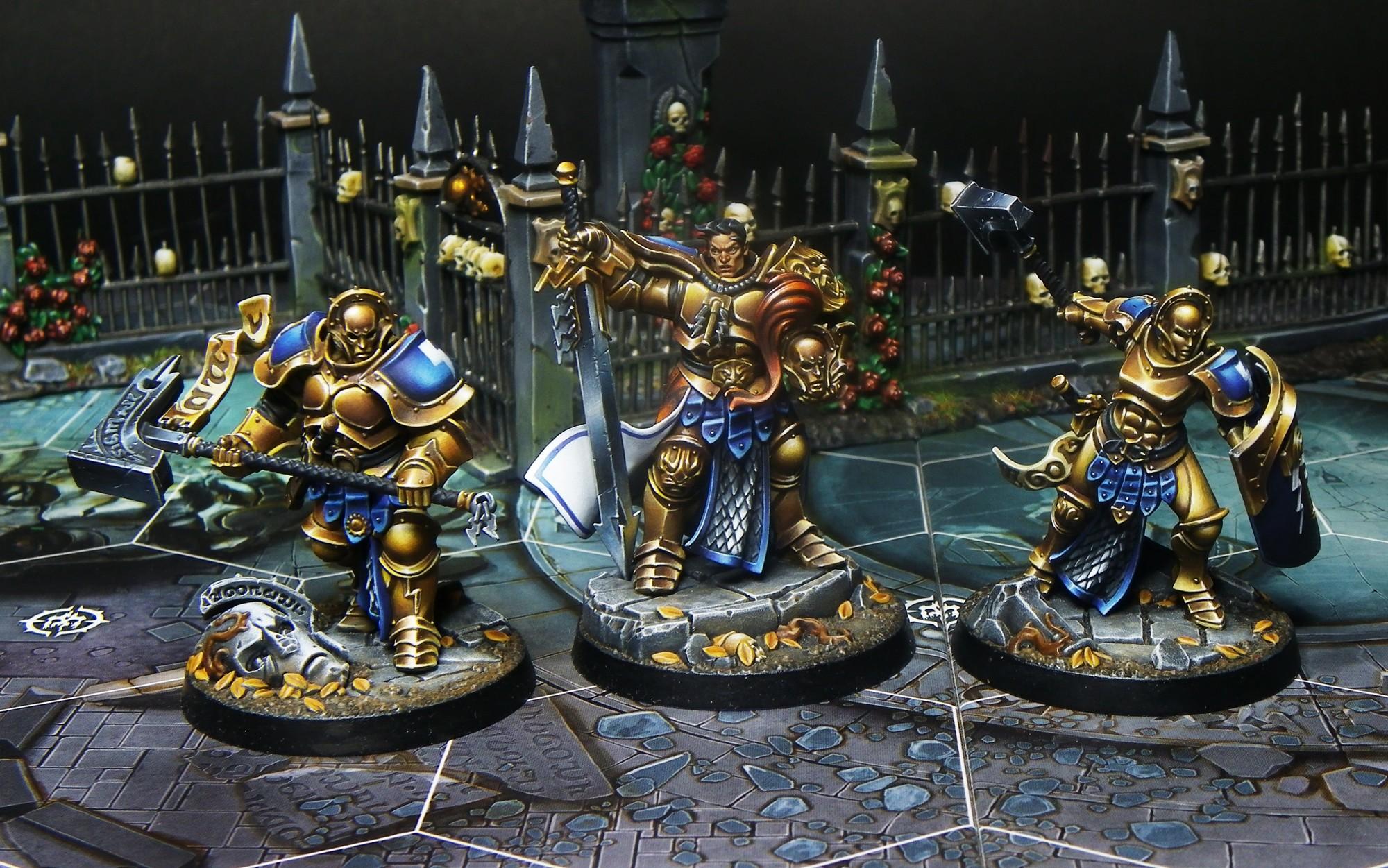 Underworlds Shadespire Stormcast eternals. Severin Steelheart, Obryn the bold, Angharad Brighthammer