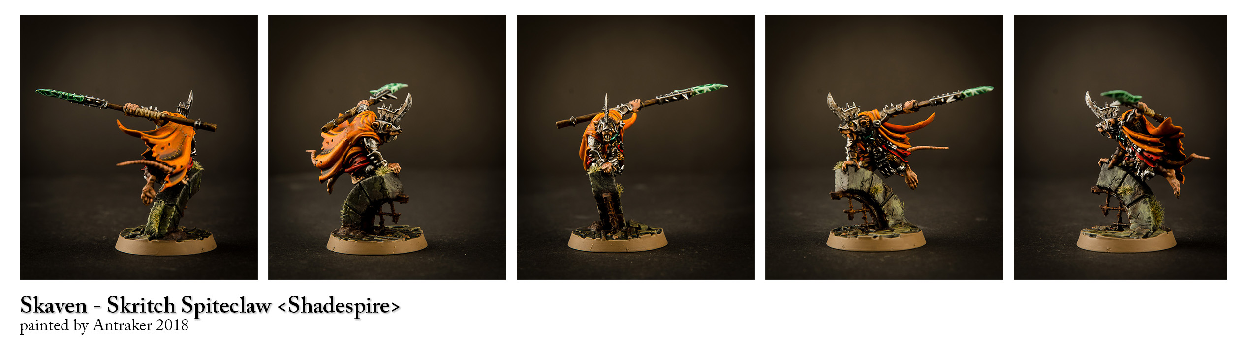Skritch Spiteclaw -  Skaven Leader from Shadespire.