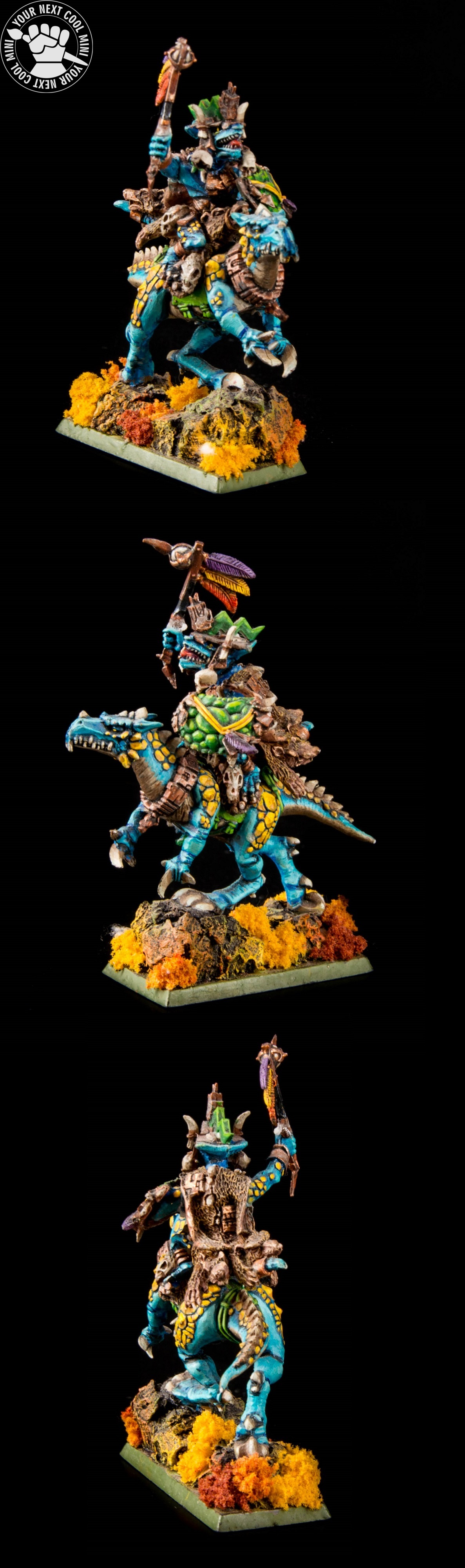 Warhammer AoS/FB, Lizardmen - Saurus Oldblood on Cold One