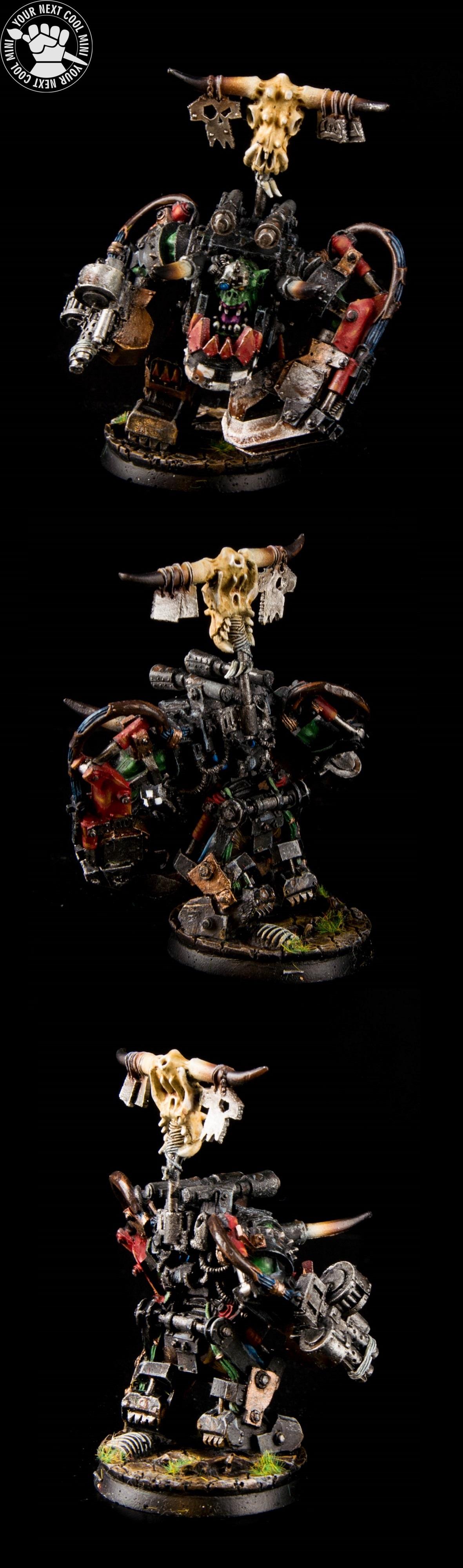 Warhammer 40K Space Orks, Ghazghkull Thraka, Black