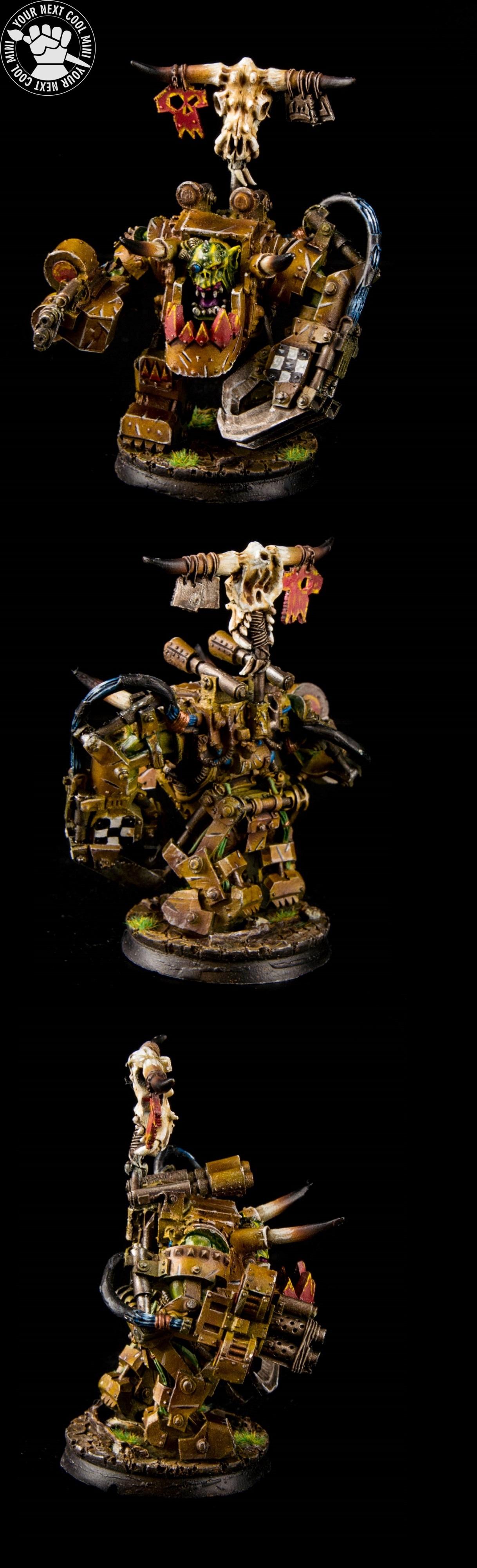 Warhammer 40K Space Orks, Ghazghkull Thraka, Yellow