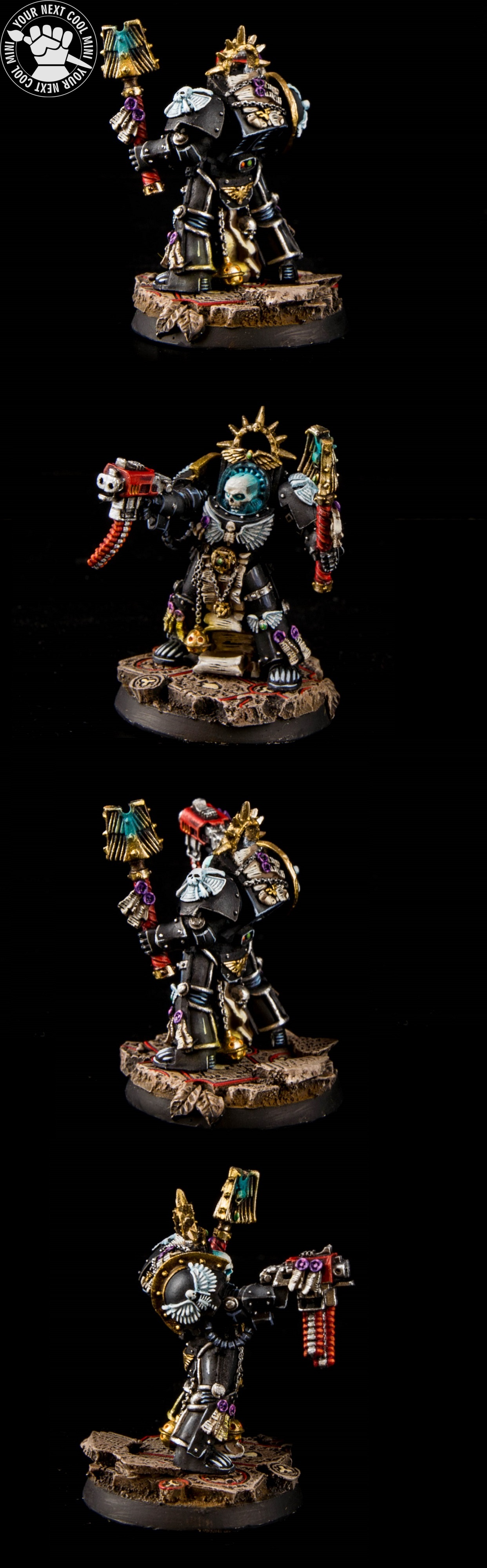Warhammer 40K METAL Space Marines Terminator Chaplain