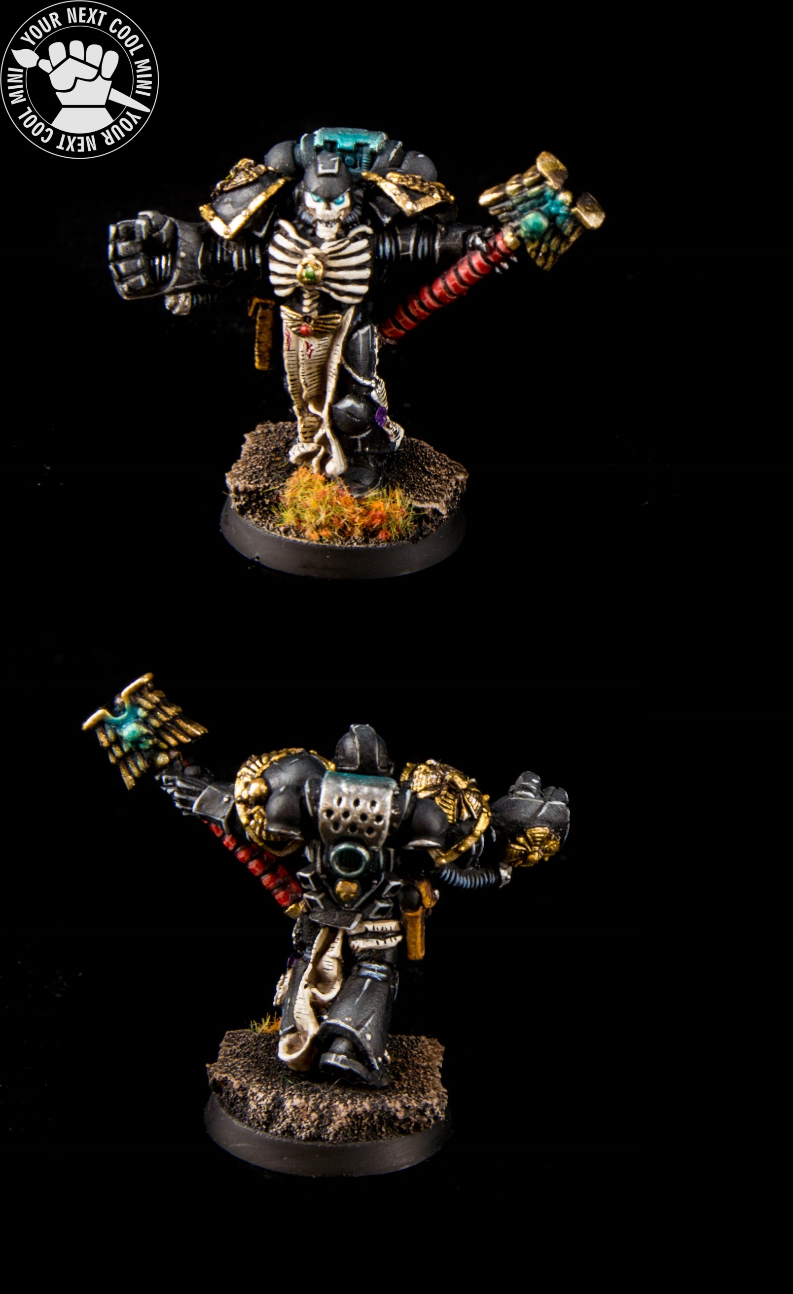 Warhammer 40K METAL Space Marines Chaplain with Crozius & Power Fist