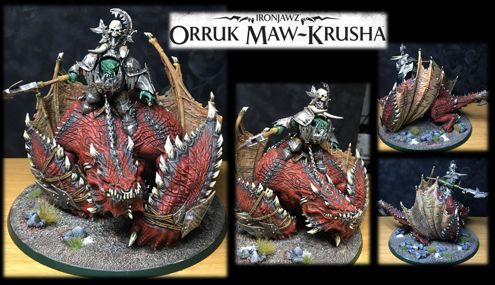 Orruk Mega-Boss on Maw-Krusha (Ironjawz)