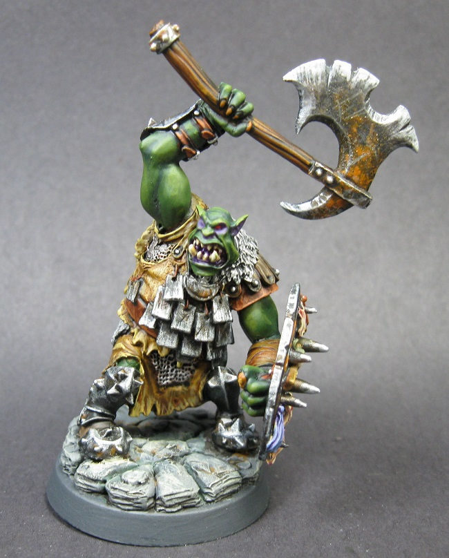 14560 Black Orc Warlord REAPER MINIATURES WARLORD