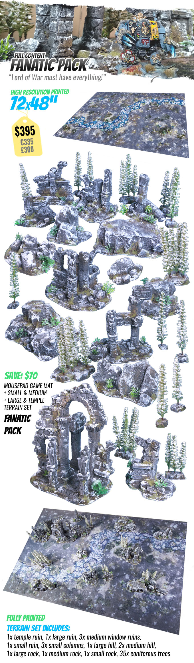 FANATIC PACK: StudioLevel GÅRDBÛK Shrine Terrain