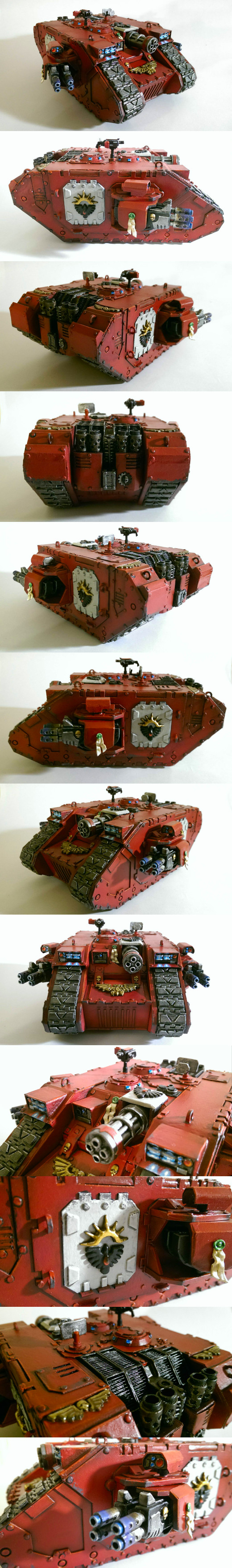 Scratchbuilt papercraft Land Raider