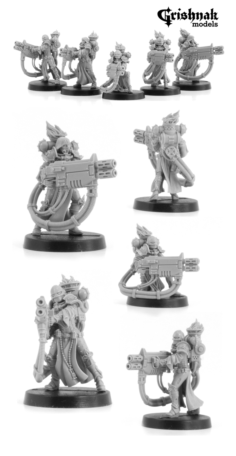 CoolMiniOrNot - War Maidens with Heavy Weapon (set 2) by