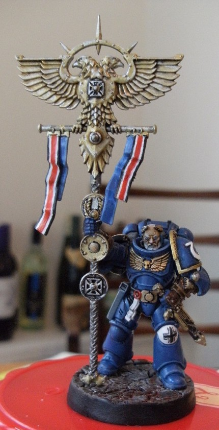 Coolminiornot Ultramarines Primaris Ancient Space Marine Vexilla
