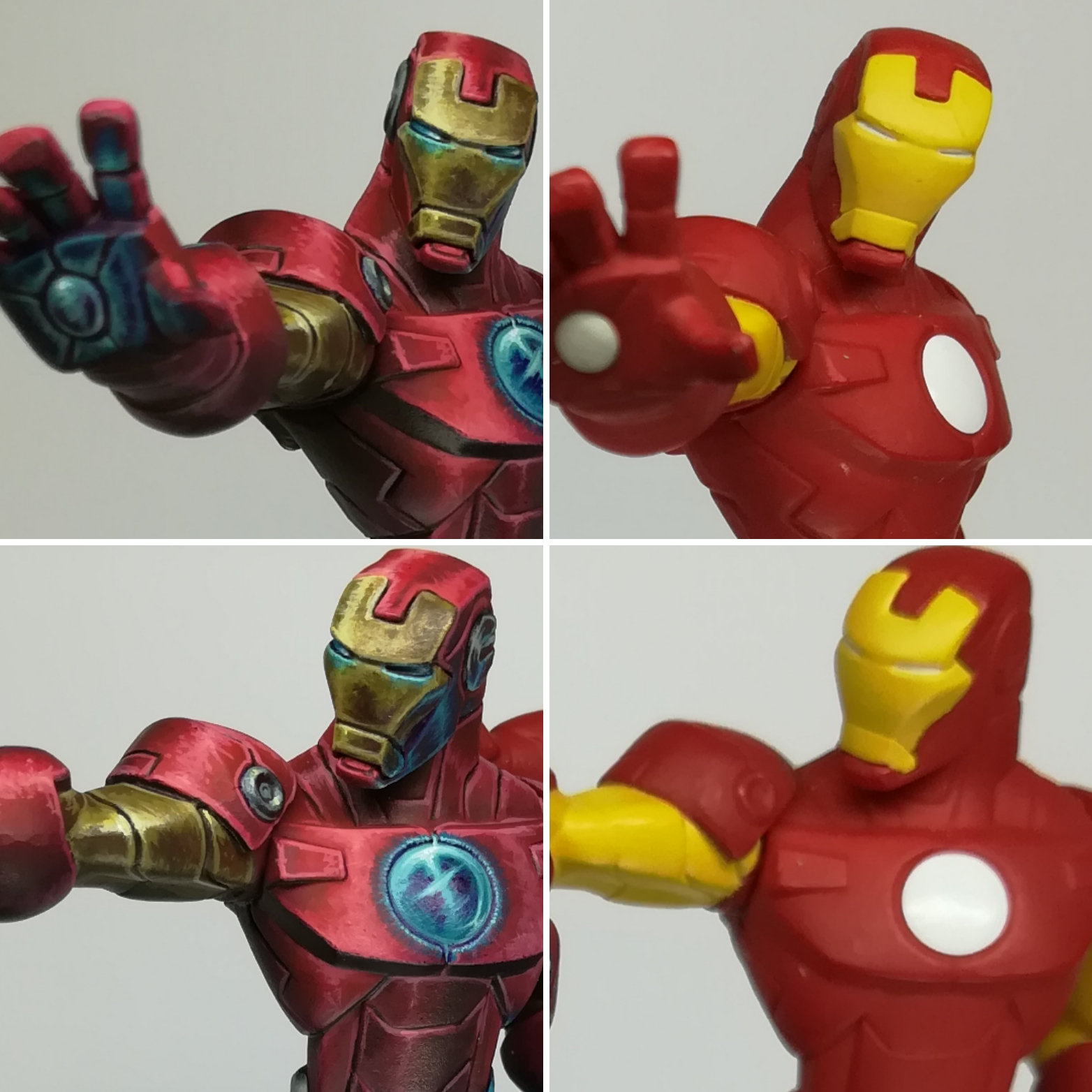Disney infinity Iron Man Repaint Before vs After
