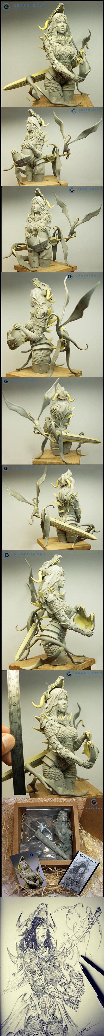 Mina, Dragon Hunter (1/9 large bust)