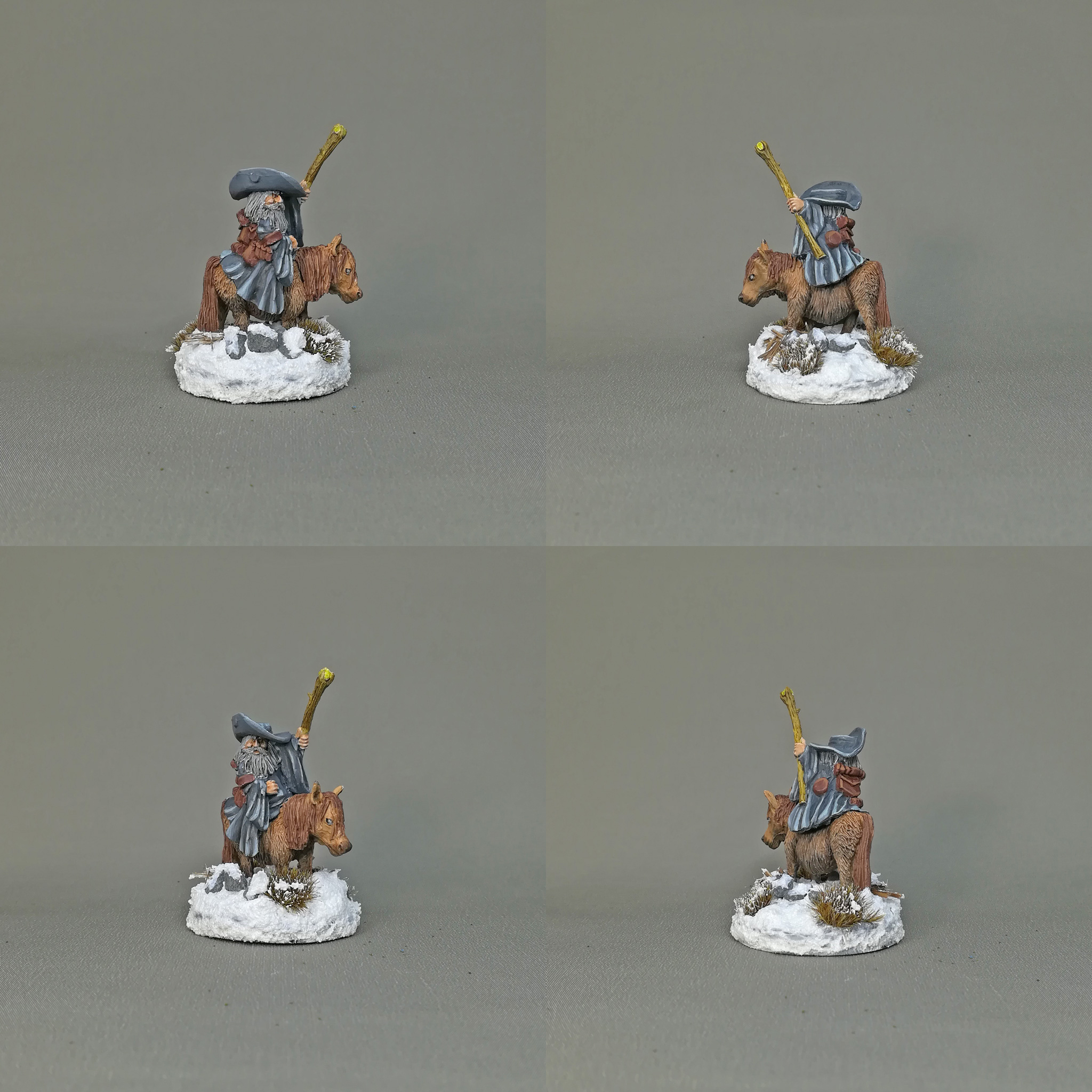 Dwarf Battle Mage and Poney