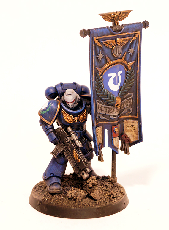Ultramarines Primaris Ancient with Banner