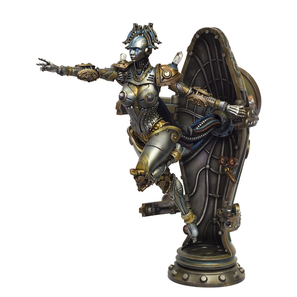 Lady Mechanica 1:8th scale figure with LED