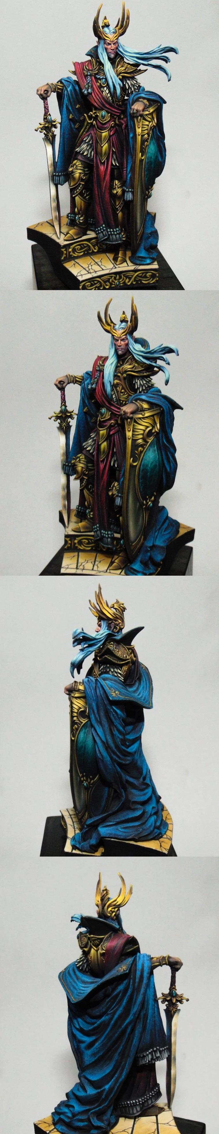 ETERNAL, HIGH ELF KING- GURA RESIN KITS