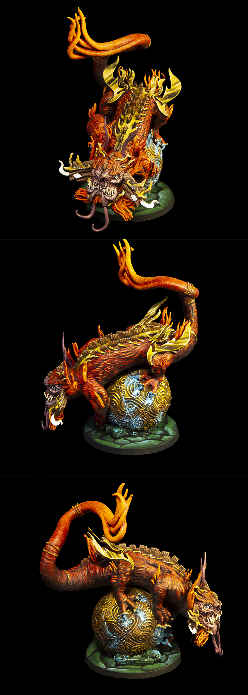 The Fire Dragon from Rising Sun boardgame