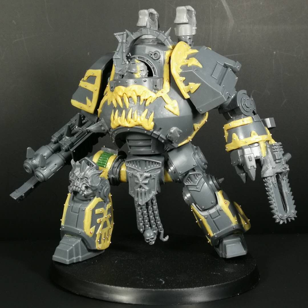 WIP World Eaters Contemptor Dreadnought