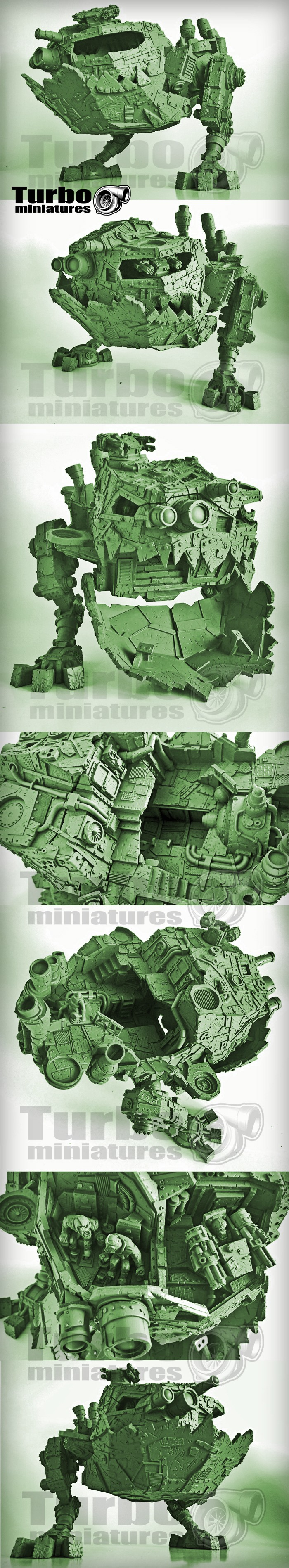 Stompa Kevin ork orc Machine Deff Dread mega Mad