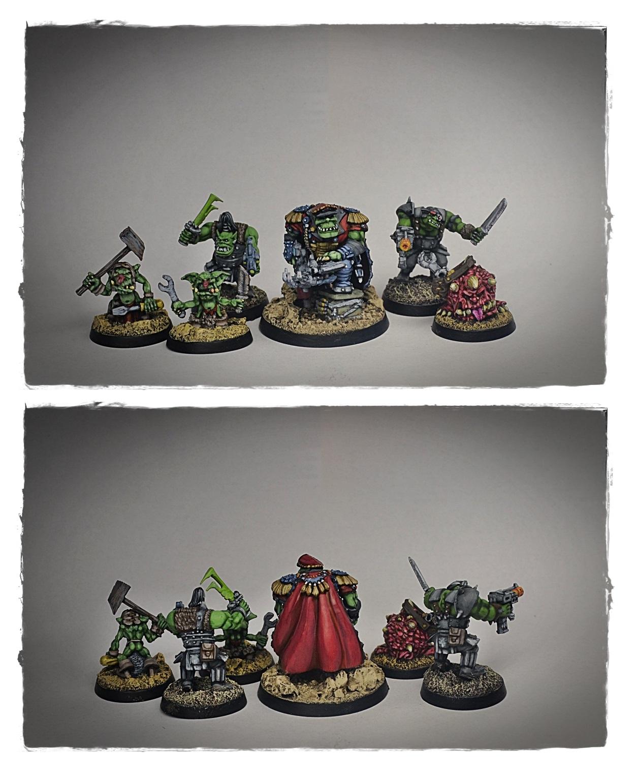 Ork Commander with Goblin mechanics